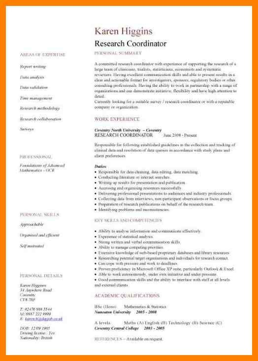 6+ academic resume examples | aplication format