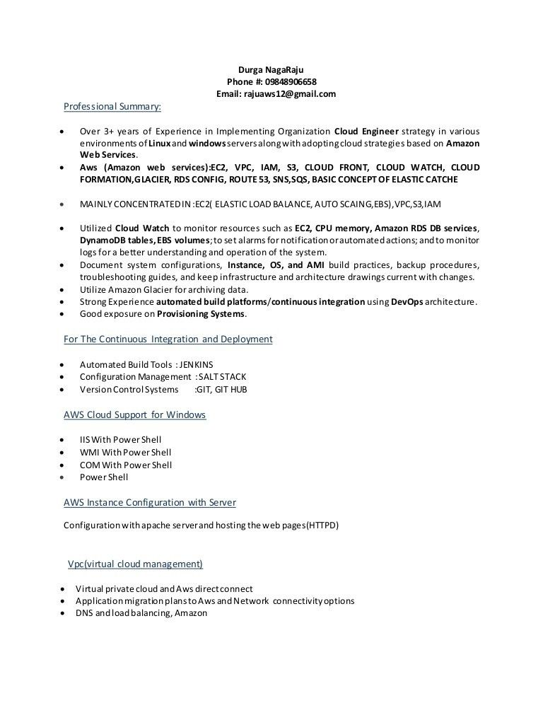 Aws new resume