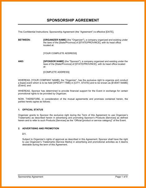 10+ sponsorship agreement   cashier resume