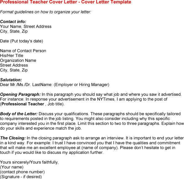 Teacher Job Application Cover Letter Examples forums learnist in ...