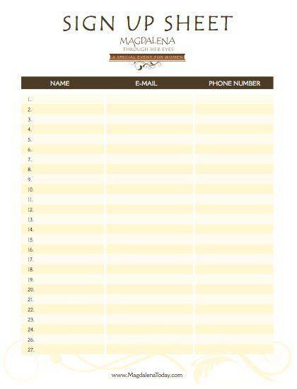 Holiday Sign Up Sheet Templates [Template.billybullock.us ]