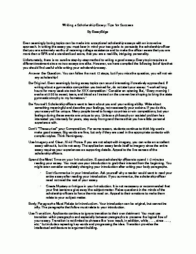 How To Write A Scholarship Essay.Scholarship Essay Example.jpg ...