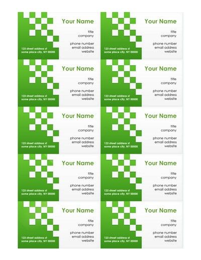 Free Business Card Templates | Make Your Own Business Cards - MS Word
