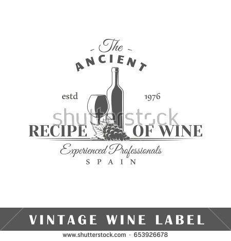 Set Wine Labels Elements Design On Stock Illustration 375491977 ...