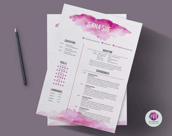 CV #template cover letter #template & reference by… | GD ...
