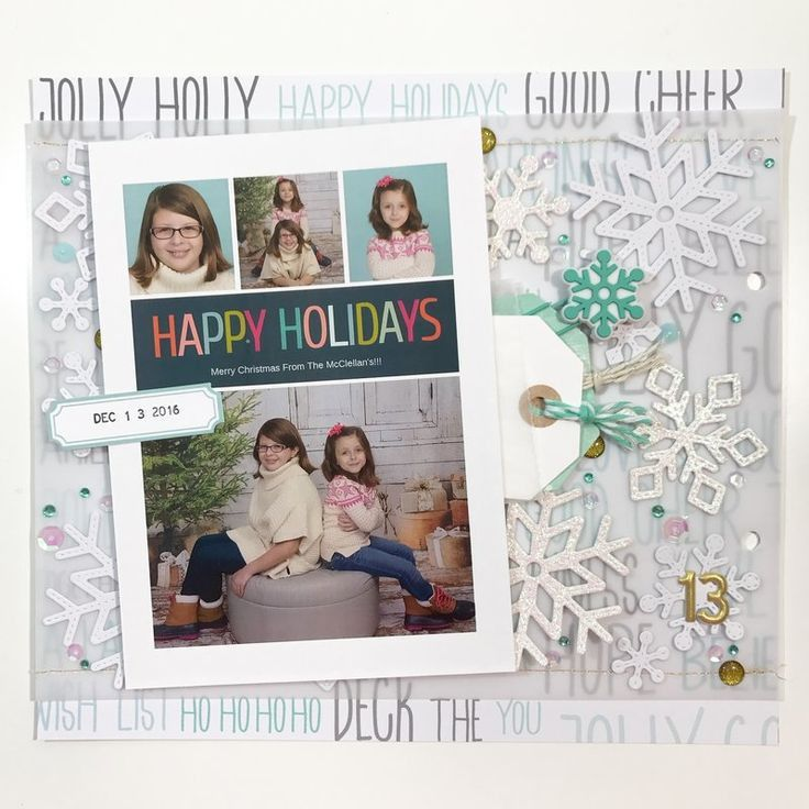 516 best Scrapbook Layouts - Christmas images on Pinterest ...