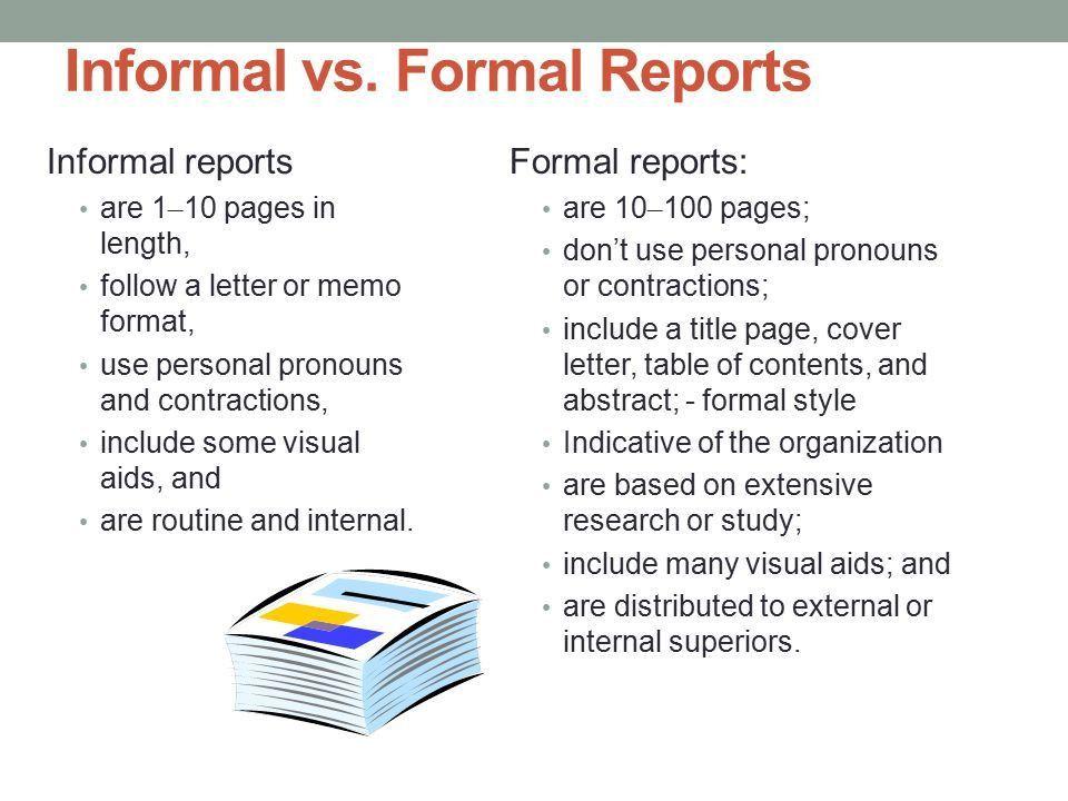 10 Informal Reports. - ppt video online download