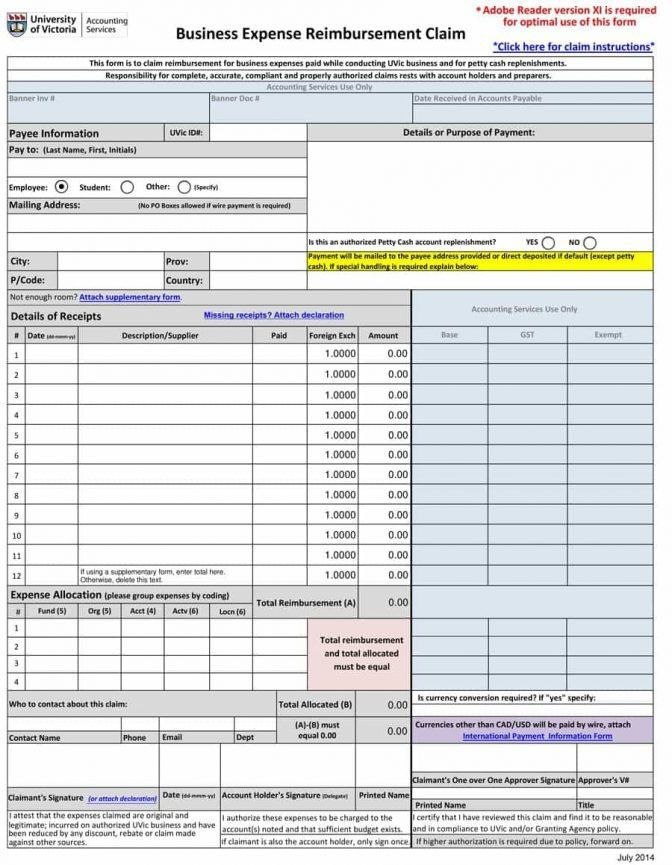 40 Expense Report Templates To Help You Save Money Template Lab ...