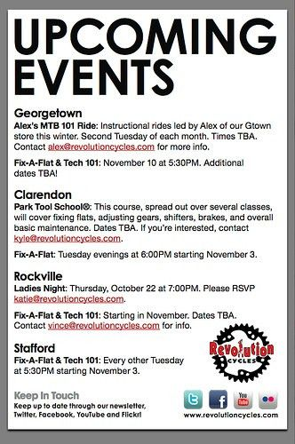 Upcoming Events Flyer Design | Revolution Cycles | Flickr