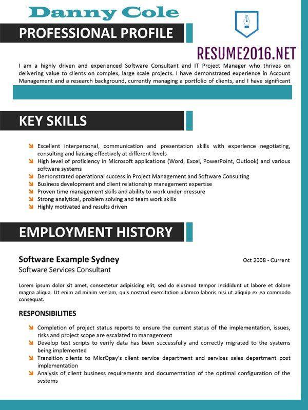 Best Resume Format 2016: Some Hot Tricks •