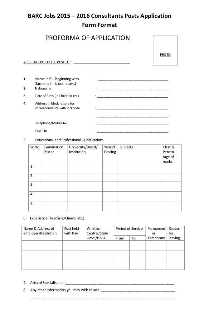 Application Form Format. Accounting Job Application Form Format 49 ...