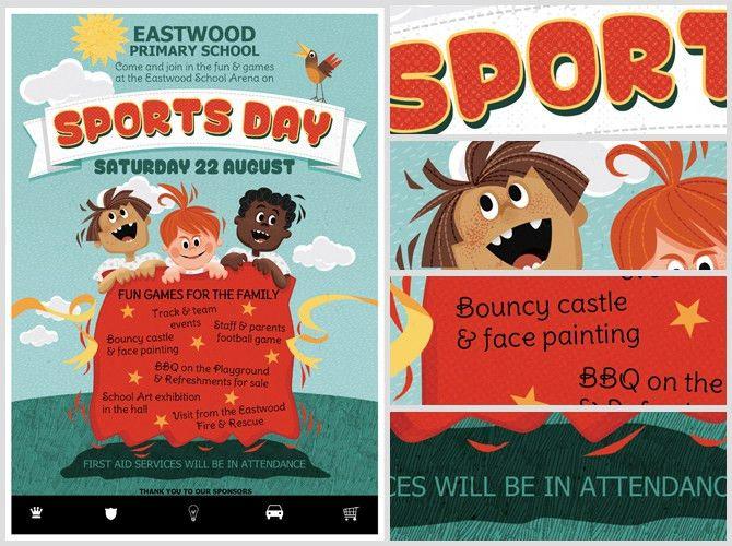 Kid's Sports Day Flyer Template - FlyerHeroes