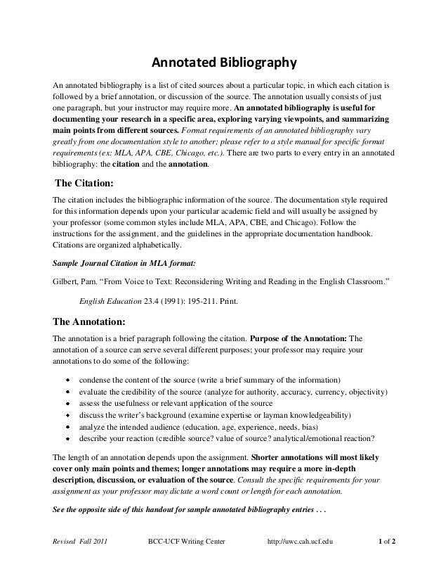 Annotated bibliography-handout-fall2011