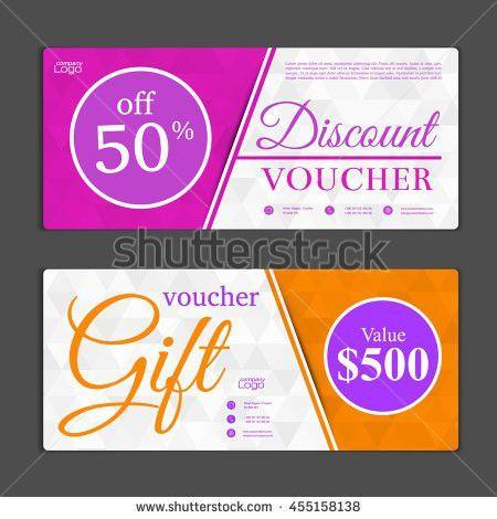 Gift Voucher Templatevoucher Gift Certificate Coupon Stock Vector ...