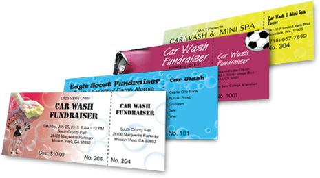 Car Wash Tickets - Best Ticket Printing
