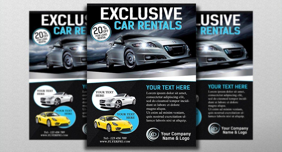 Exclusive Car Rental Flyer Template | FLYERROOM