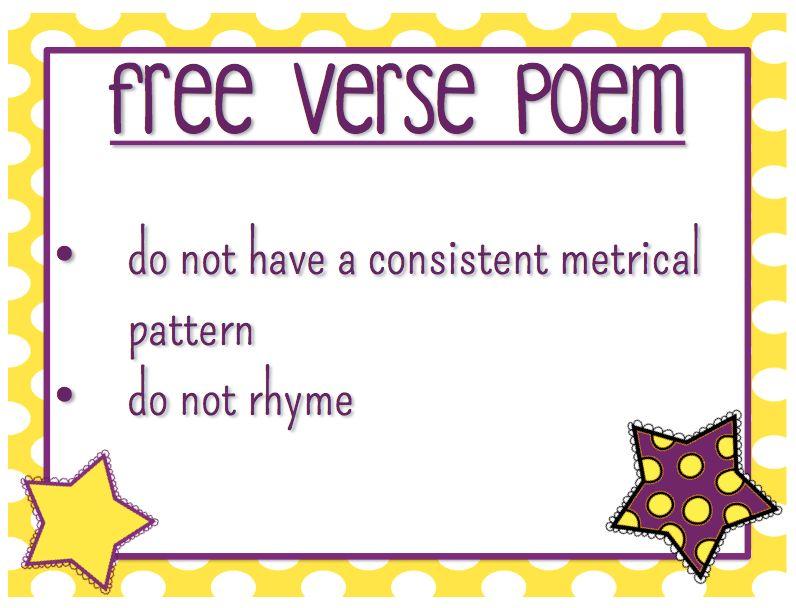 Genre: Free Verse   Mrs. Strader's Website