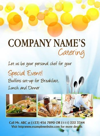 MS Word Catering Flyer Template | Office Templates | Pinterest ...