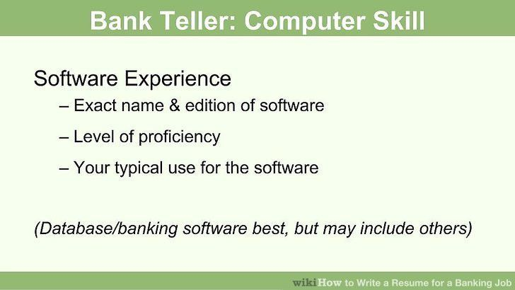 How to Write a Resume for a Banking Job: 14 Steps (with Pictures)