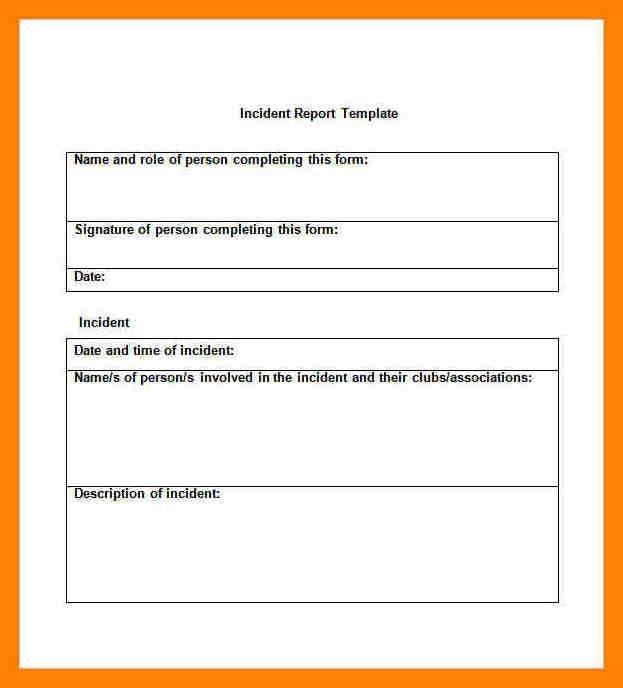9+ incident report format letter | pattern resume
