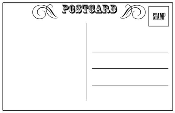 Printable Postcard Template Postcard Template 25 Download – Printable Postcard Template Free