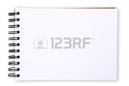 Blank Paper Tablet On White Background (with Clipping Paths) Stock ...