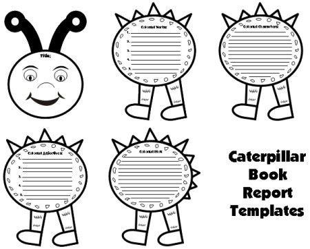 Caterpillar Book Report Project: templates, worksheets, grading ...