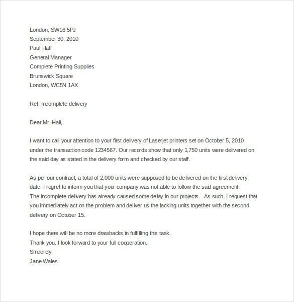 Business Complaint Letter – 10+ Free Word, PDF Documents Download ...