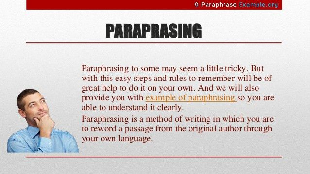 Steps and Rules for Paraphrasing with Examples