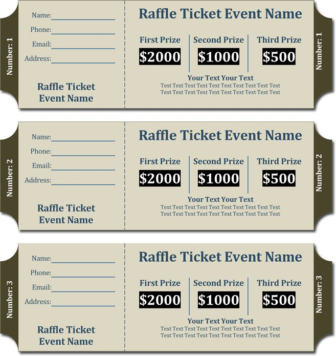 20+ Free Raffle Ticket Templates with Automate Ticket Numbering