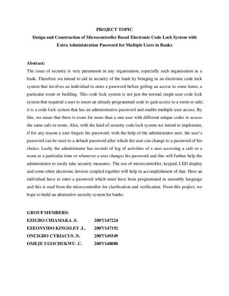 chemistry thesis abstract How to write an abstract philip koopman, carnegie mellon university october, 1997 abstract because on-line search databases typically contain only abstracts, it is vital to write a complete but concise description of your work to entice potential readers into obtaining a copy of the full paper.
