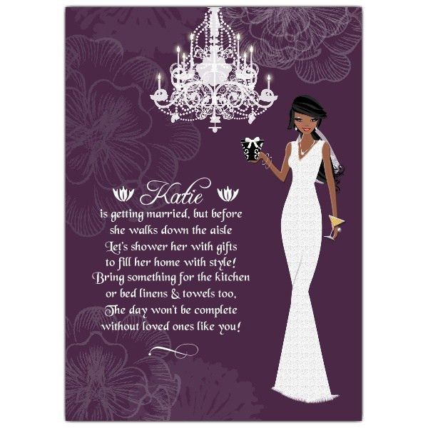 African American Bridal Shower Invitations: Make her bridal shower ...