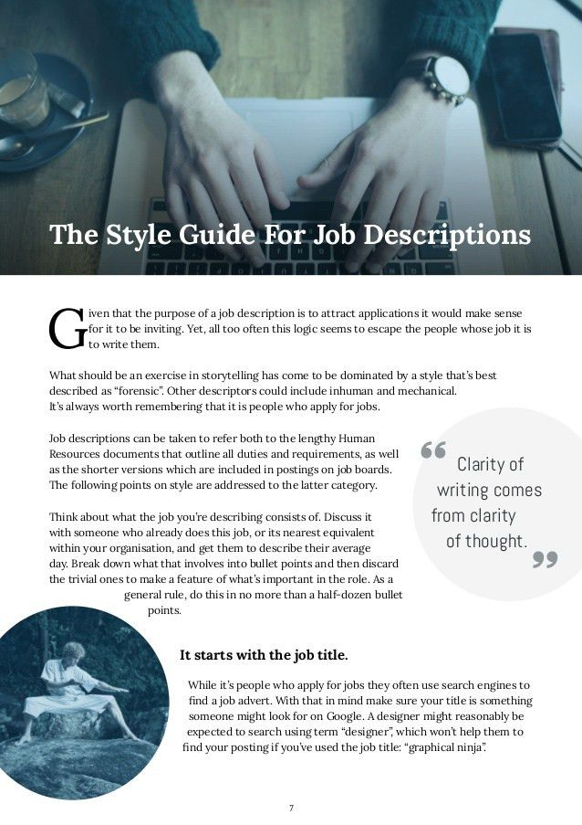 How to Write Job Descriptions