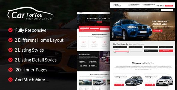 Bootstrap Car Dealer Templates from ThemeForest