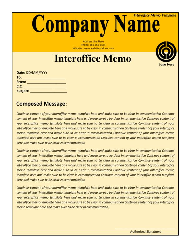 Interoffice Memo Template 2 | LegalForms.org