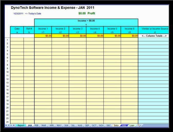 business expenses template