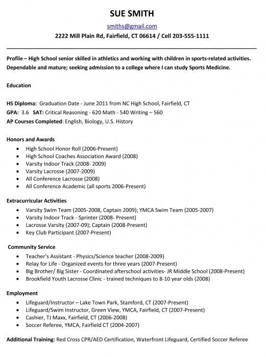 The Most Stylish How To Write High School Resume | Resume Format Web