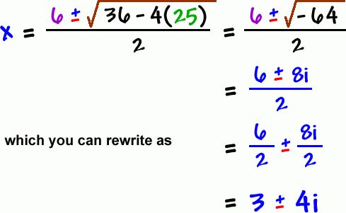 Complex Numbers - Cool math Algebra Help Lessons - The Quadratic ...