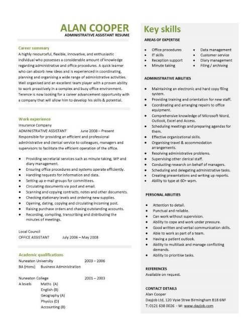 Administrative Resume Samples 16 Example Director Of ...