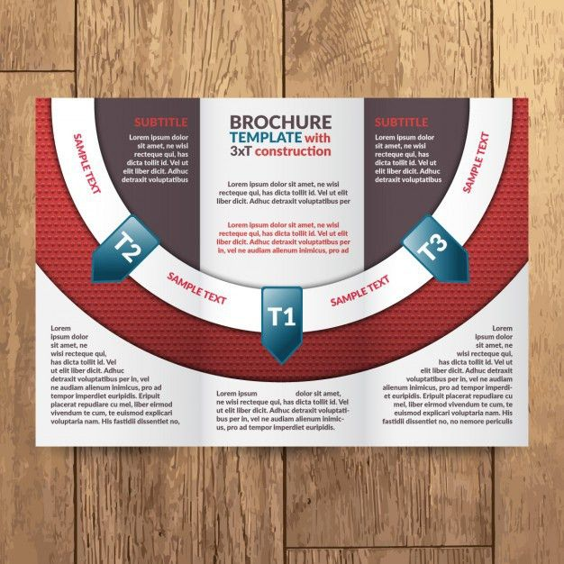 Modern trifold brochure template Vector | Free Download