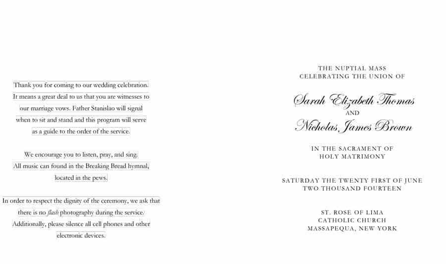 37 Printable Wedding Program Examples & Templates - Template Lab