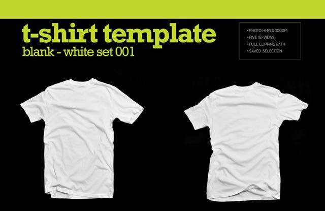 Collection of Blank T-Shirt Mockup Templates