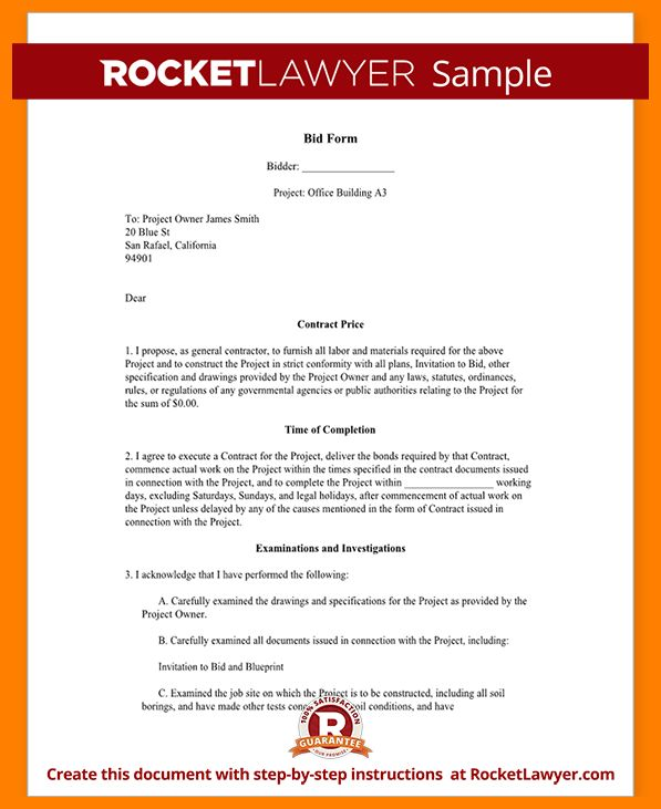 9+ Free Sample Construction Proposal Template | monthly budget forms