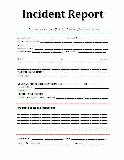 Printable Sample Police Report Template Form | Legal Template ...