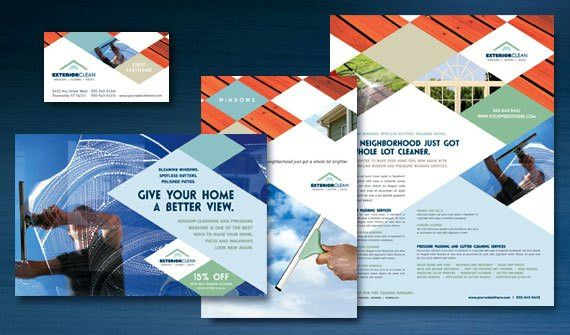 Make Your Window Cleaning Business Shine with Brochures, Postcards ...