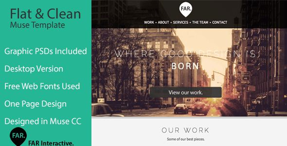 Minimalist Adobe Muse Themes & Muse Templates from ThemeForest