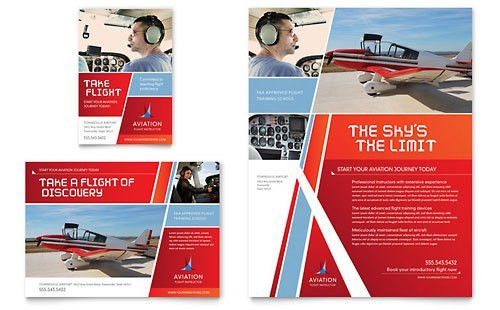 Flight & Aviation   Print Ad Templates   Automotive & Transportation