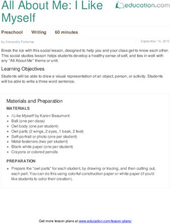 Lesson Plans for Preschool | Education.com