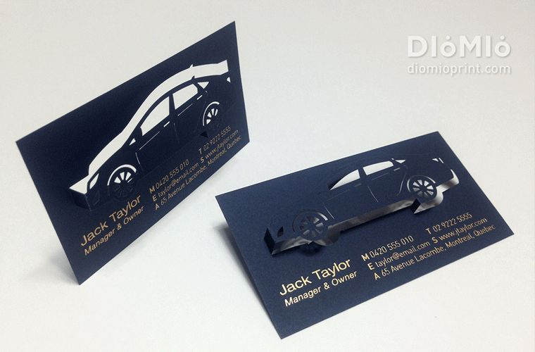 Car Rental Sales Business Cards - DioMioPrint