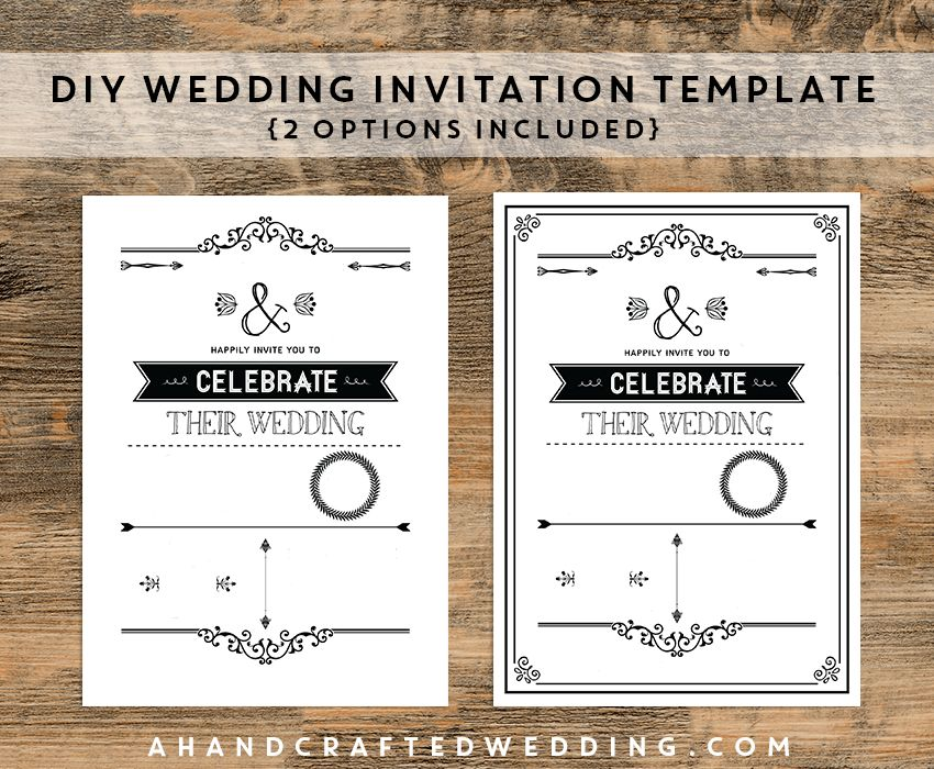 Diy Wedding Invitations Templates | THERUNTIME.COM